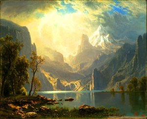 "Psalm 23: 6"" (Albert Bierstadt after the style of Maxfield Parrish. By MKM Portfolios."