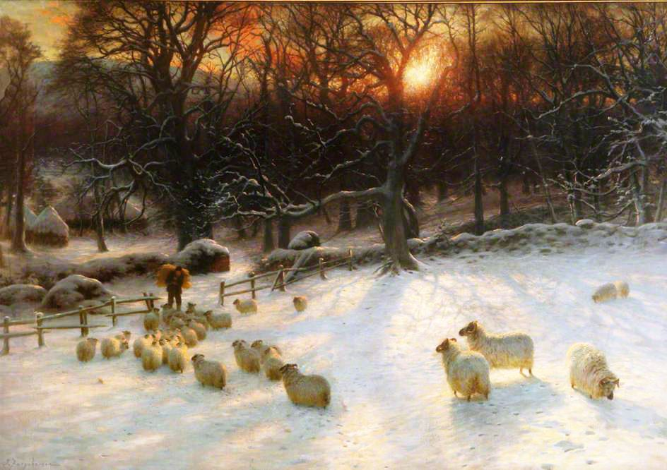 Beneath the Snow Encumbered Branches_ Joseph Farquharson_1901_t
