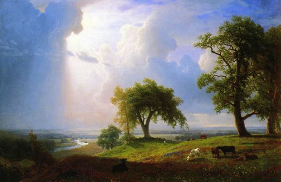 California Spring. By Albert Bierstadt