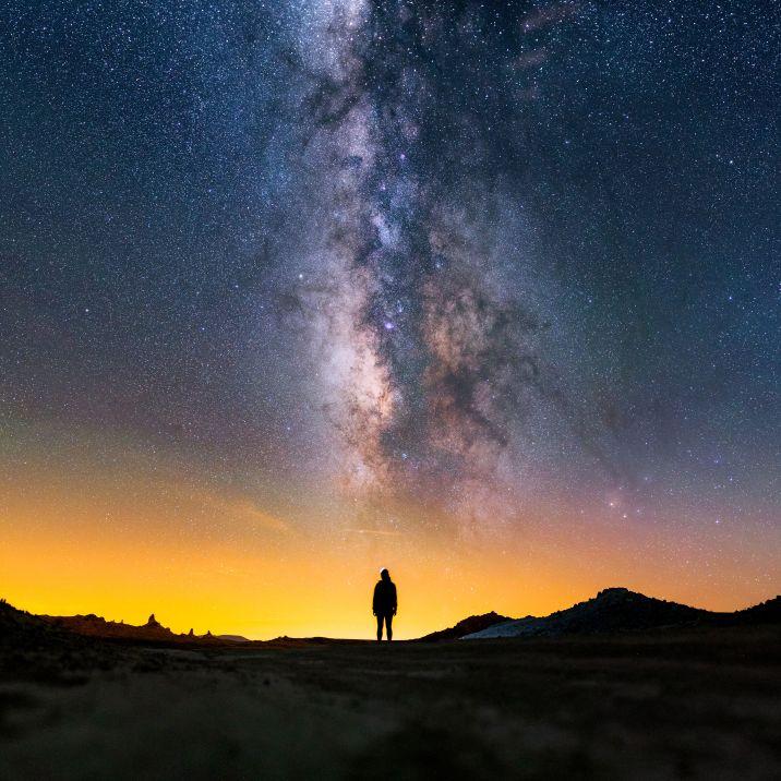 Milky Way above Trona Pinnacles National Landmark.
