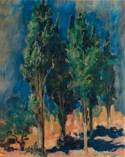 Leopold_Pilichowski_-_Pejzaż_z_drzewami_t