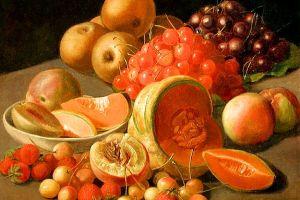 Still life with fruit. By Leopold von Stoll.