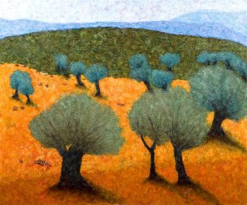 Old_Olive_Trees_Painting_by_Moshe_Kassirer_t