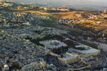 Israel-2013-Aerial Temple Mount