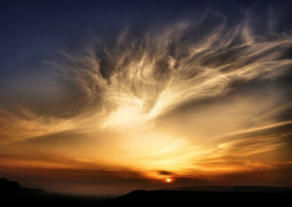 Sunset in the Negev, Israel.