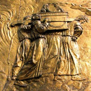Bas Relief: The Transport of the Ark of the Covenant, Auch Cathedral, France.
