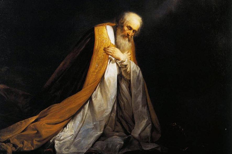 Detail: King David in Prayer (circa 1635-1640). By Pieter de Grebber