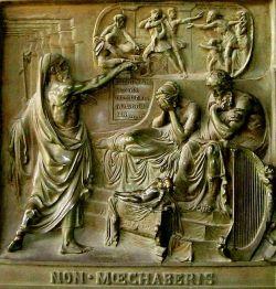 Nathan, David and Bathsheba. (Madeleine Place de La Madeleine, Paris, 1837). By Baron Henri de Triqueti.