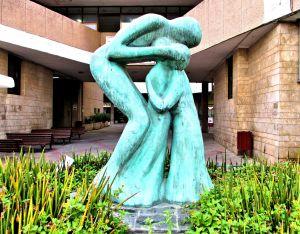 Brotherly Love Sculpture in Tel Aviv.