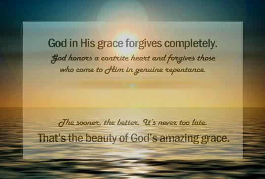 The Beauty of God's Amazing Grace
