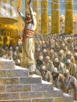 Solomon Dedicates the Temple in Jerusalem.