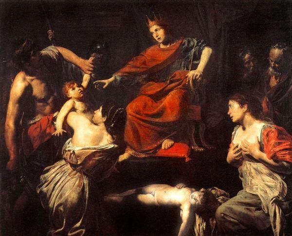 The Judgement of Solomon. By Valentin de Boulogne.