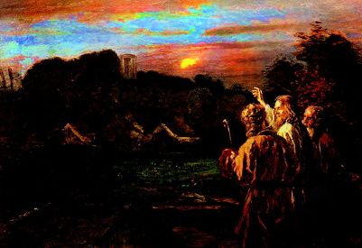 The route to Emmaus. By Fritz von Uhde.