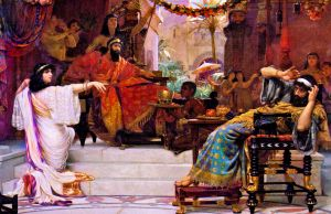Esther Denouncing Haman, (c. 1888).