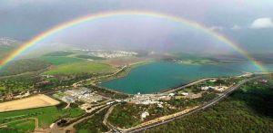 Rainbow over Kibbutz Hanaton, Israel.