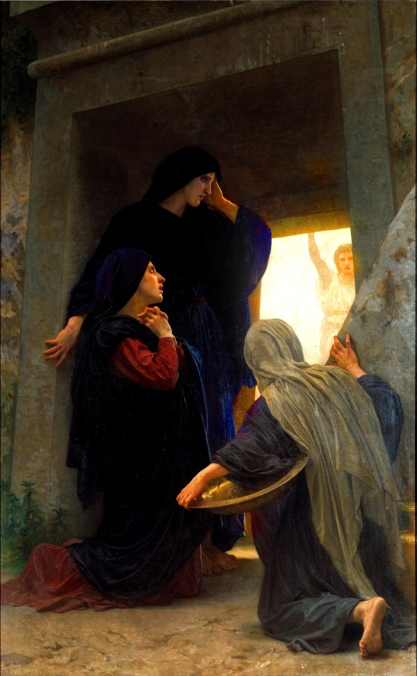 Les femmes au tombeau, 1876. By, William-Adolphe Bouguereau.