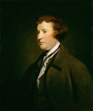 "Edmund Burke: ""The only thing necessary for the triumph of evil is for good men to do nothing."" By Joshua Reynolds."