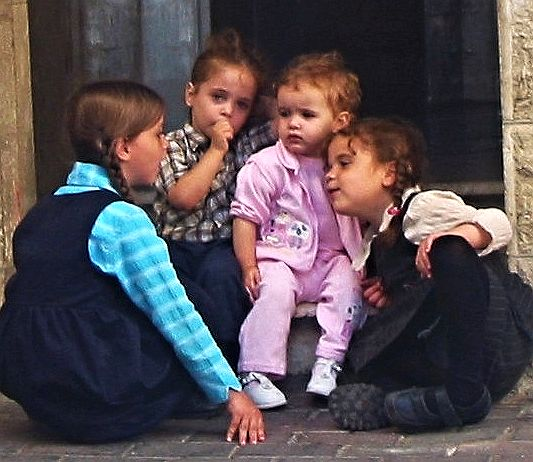 A Sweet View of Children in the Old City of Jerusalem.