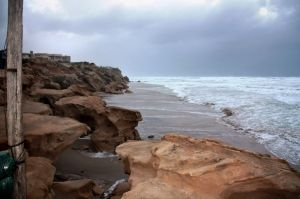 Storm on Beit Yanai Beach, Israel.