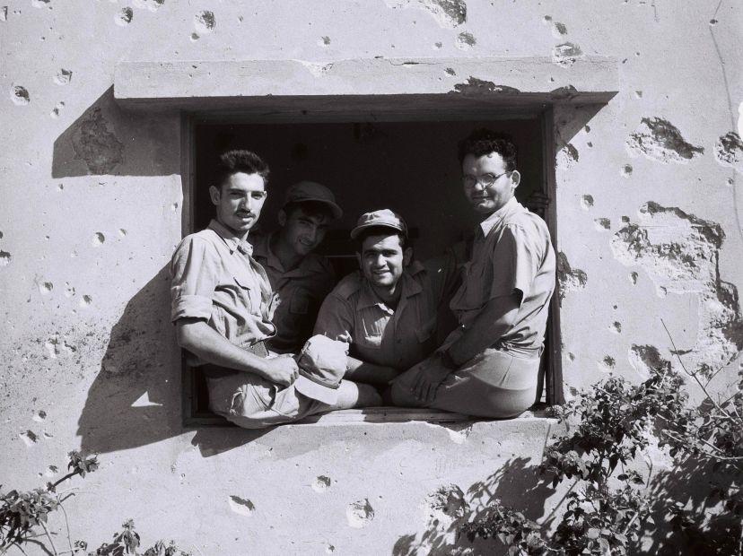 Defenders of Kibbutz Negba, Israel War of Independence, August 30, 1948. By Zoltan Kluger.
