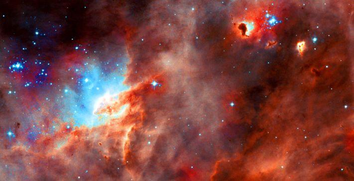 Star formation region N11B in the LMC taken by WFPC2 on the NASA/ESA Hubble Space Telescope (July 1, 2004).
