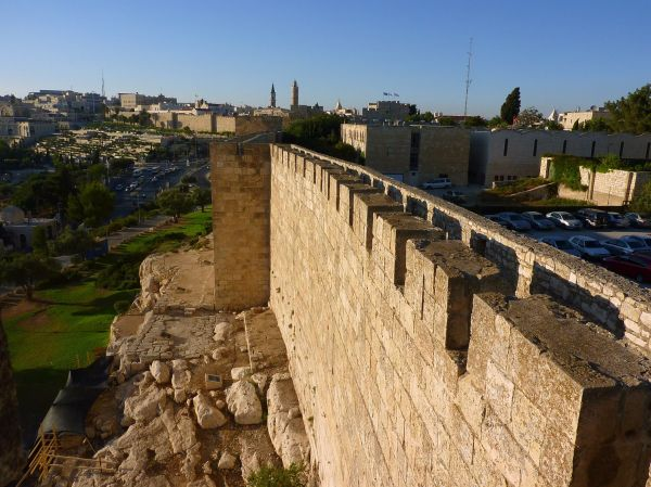 Jerusalem Wall and Ramparts walkway.