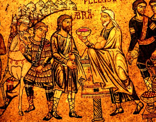 Abraham_meets_Melchisedech_(San_Marco_t