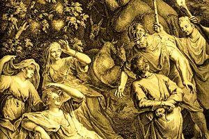 Abram Rescues Lot, the Women, and Goods. By illustrators of the 1728 Figures de la Bible.
