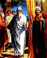 Abraham and Sarah Host Three Guests.
