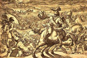 Abraham Chases the Enemies Who Captured His Nephew. By Antonio Tempesta.