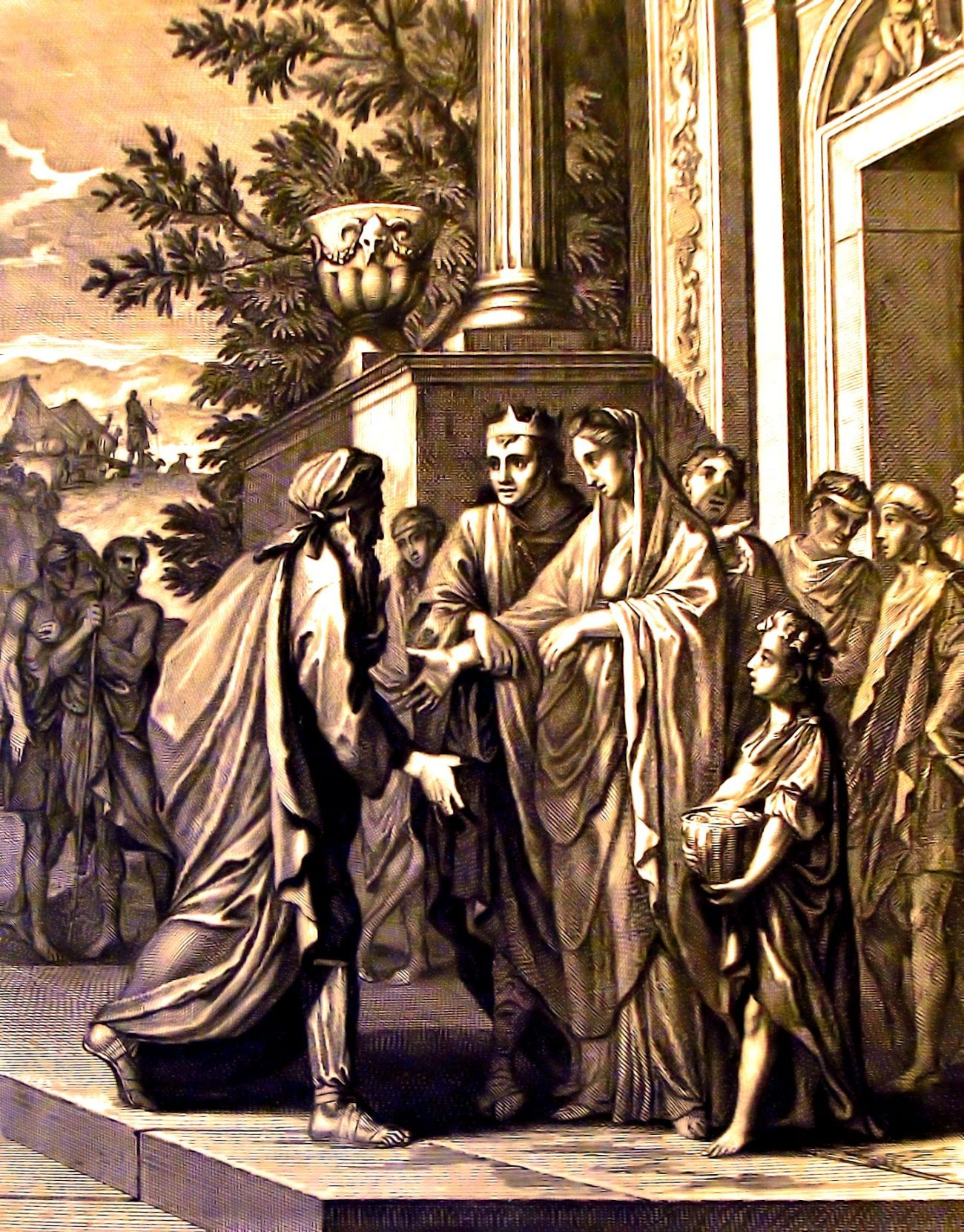 The_Phillip_Medhurst_Picture_Torah_106,_Abimelech_restores_Sarah._Genesis_cap_20_v_14._Caspar_Luyken_t