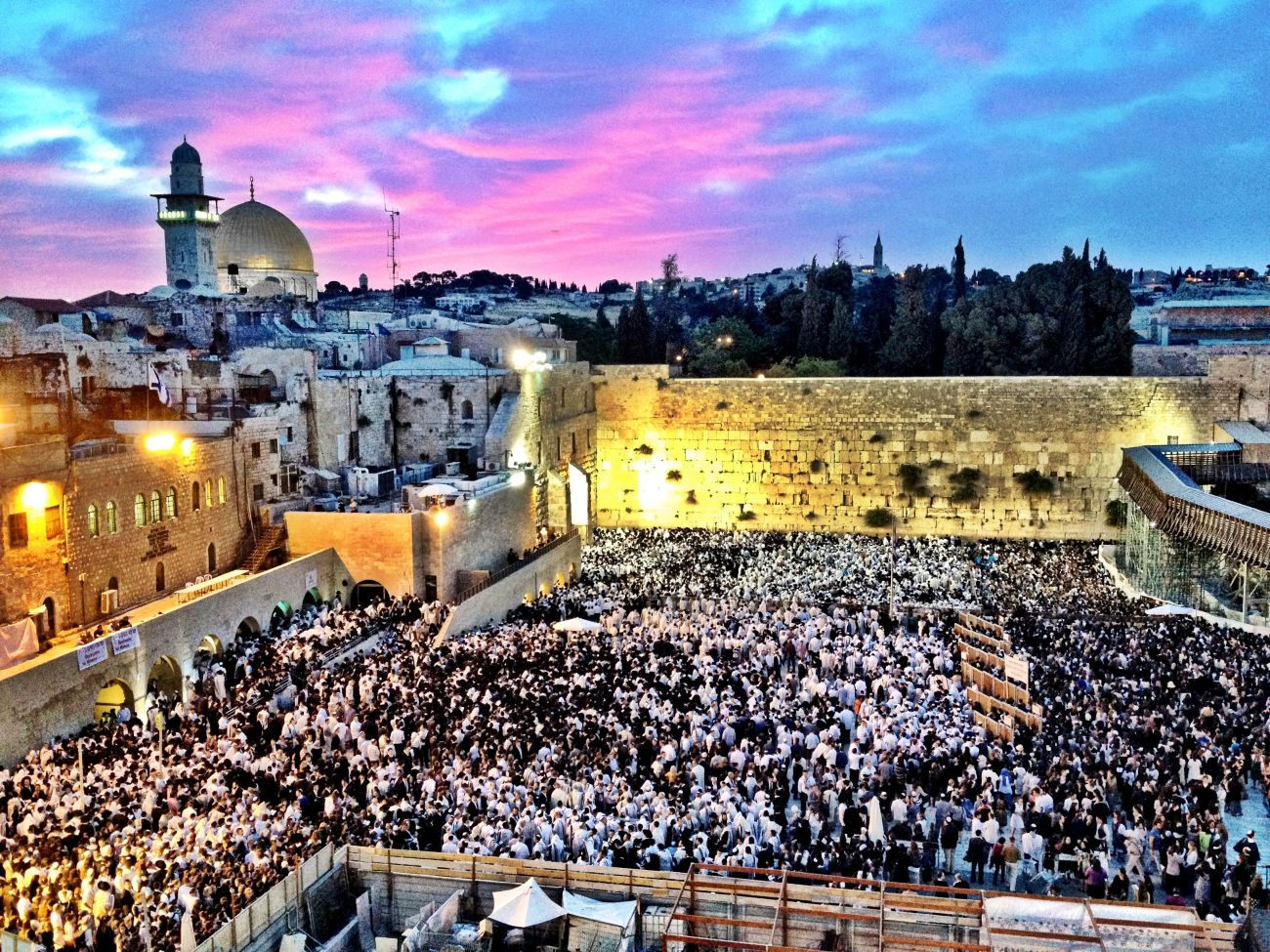 Western Wall, Jerusalem on Shavuot, May 26, 2012.