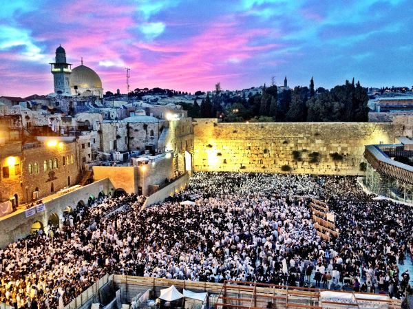 Western Wall, Jerusalem on Shavuot, May 26, 2012.