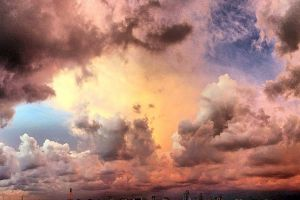Storm Clouds over Tel Aviv.