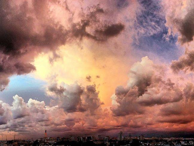 Storm Clouds over Tel Aviv.