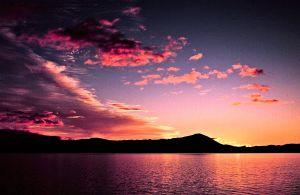 Sunrise in Southeast Alaska.