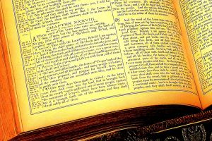 Detail: Ezekiel 38, The Holy Bible. © Charles E. McCracken Archive. Photo courtesy, MKM Portfolios.