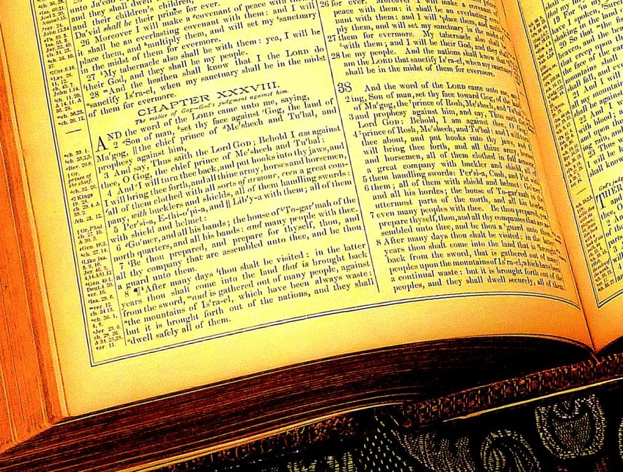 Detail: Ezekiel 38, The Holy Bible. © Charles E. McCracken Archive. Photo courtesy, MKM Portfolios.