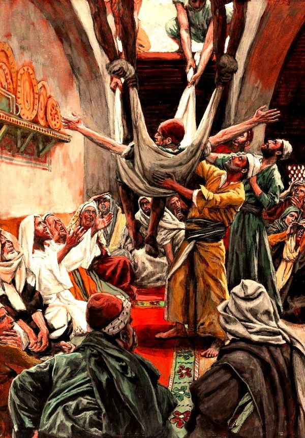 Le paralytique descendu du toit (The Palsied Man Let Down through the Roof).