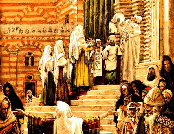 Detail: La Présentation de Jésus au Temple.