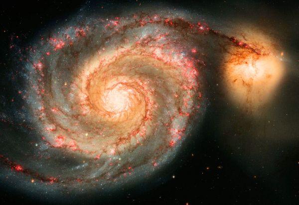Whirlpool Galaxy (M51) and Companion Galaxy.