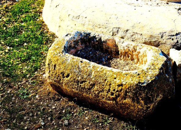 Stone manger at Tekoa, Judea-Samaria.