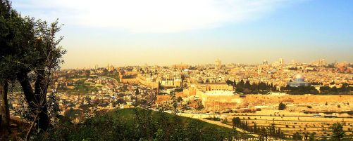 Jerusalem Panorama from the Mount of Olives, Israel. Charles E. McCracken Archives, 2017 © CEM Ministries