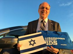 Rev. Charles E. McCracken attends the 2017 Ambassadors Against BDS summit.