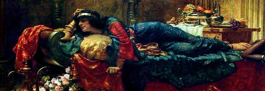 Queen Vashti Deposed_Ernest Normand_banner