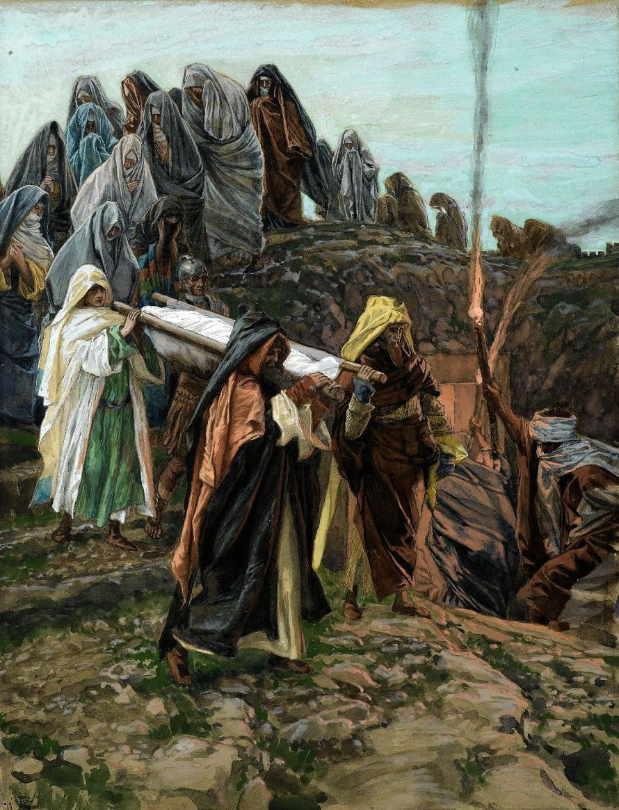 Jésus porté au tombeau - Jesus Carried to the Tomb.