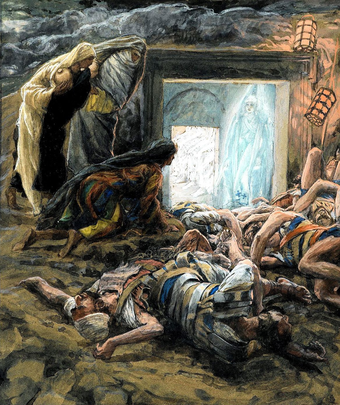 Madeleine et les saintes femmes au tombeau (Mary Magdalene and the Holy Women at the Tomb).