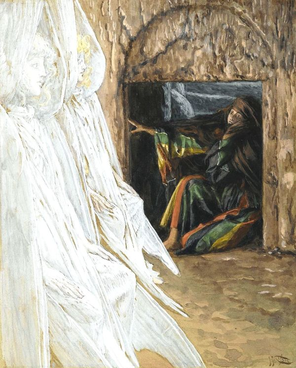 Madeleine dans le tombeau interroge les anges (Mary Magdalene Questions the Angels in the Tomb).
