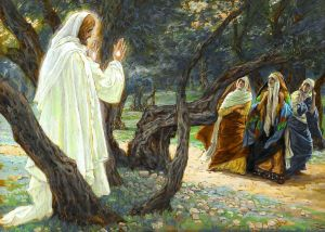 Jésus ressuscité apparaît aux femmes sainte (Risen Jesus Appears to the Holy Women).