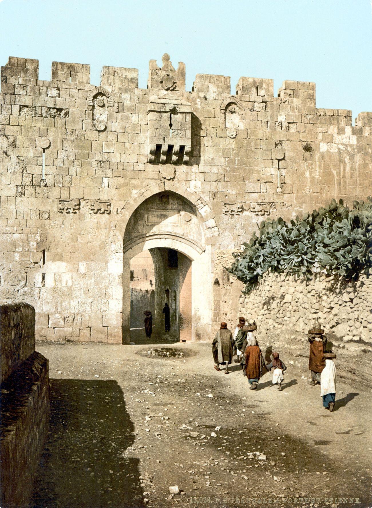 Lion's Gate, Jerusalem (circa. 1890-1900).